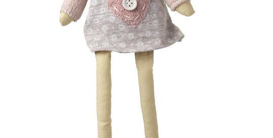 Sitting Pink & Grey Dress Angel 1