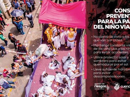 Pase del #NiñoViajero2019 listo con su Plan de contingencia para el disfrute de cuencanos y turistas
