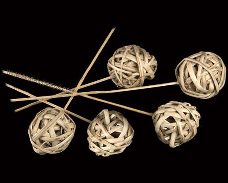 Kambu Ball on Bamboo Stem