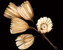 Sola Chip Folded Flower on Wire