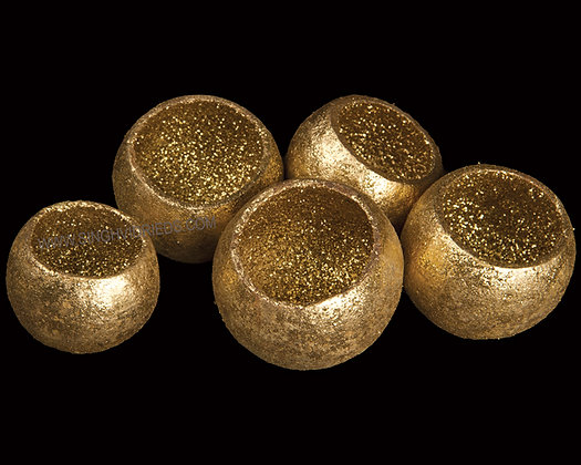 Bell Cup Gold with Glitter
