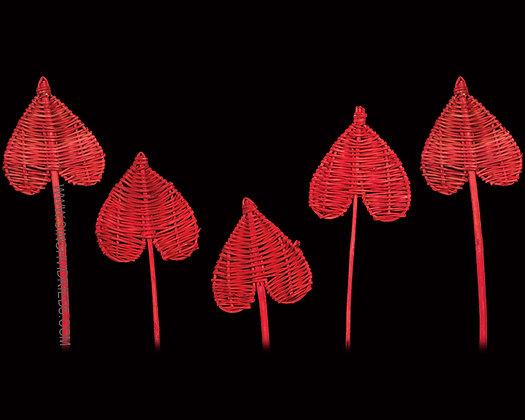 Lata Spade Red on Lata Stem