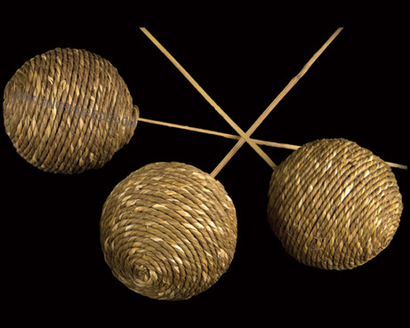 Cord Ball on Bamboo Stem