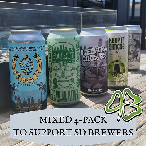Mixed 4-Pack For SD Brewers