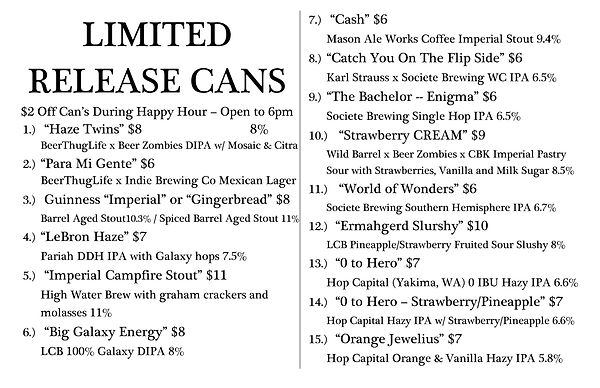 Limited Release Cans