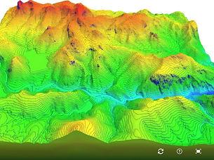 DEM elevation contours