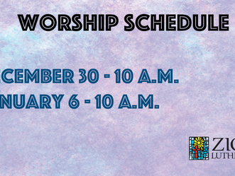 Worship - Dec. 30 & Jan. 6