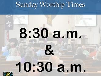 Summer Worship Times