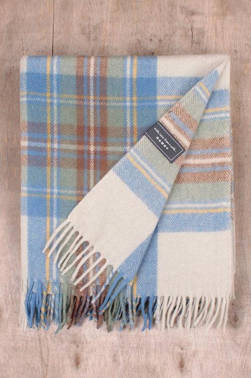Stewart Blue Tartan Blanket