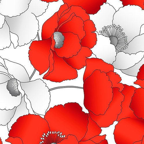 Poppy Promenade In Bloom Pearlescent KAS7983P-09