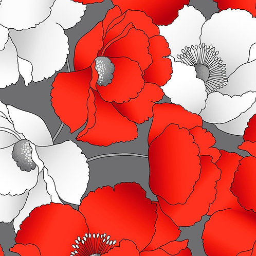 Poppy Promenade In Bloom Grey Pearlescent KAS7983P-11_1