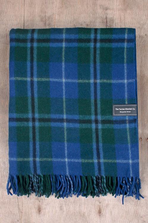 Douglas Blue Tartan Blanket