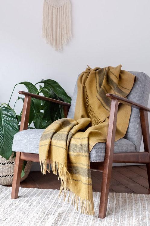 Mustard Stripe Blanket