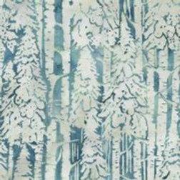 Batik - Snow Trees Lt Lagoon
