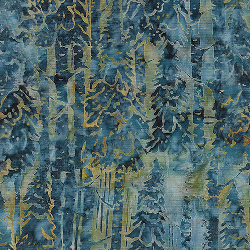 Batik - Snow Trees - Dark Lagoon