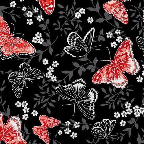 Poppy Promenade Butterfly Black Pearlescent KAS7981P-12_1