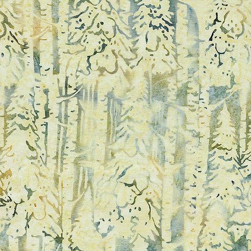 Batik - Snow Trees - Pond Moss