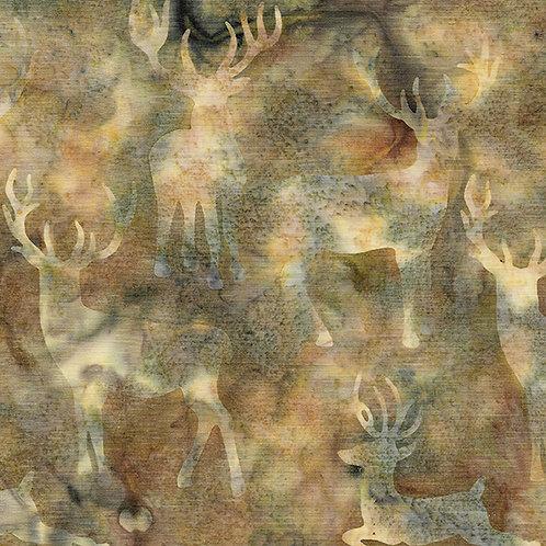 Batik - Deer Grouping - Desert