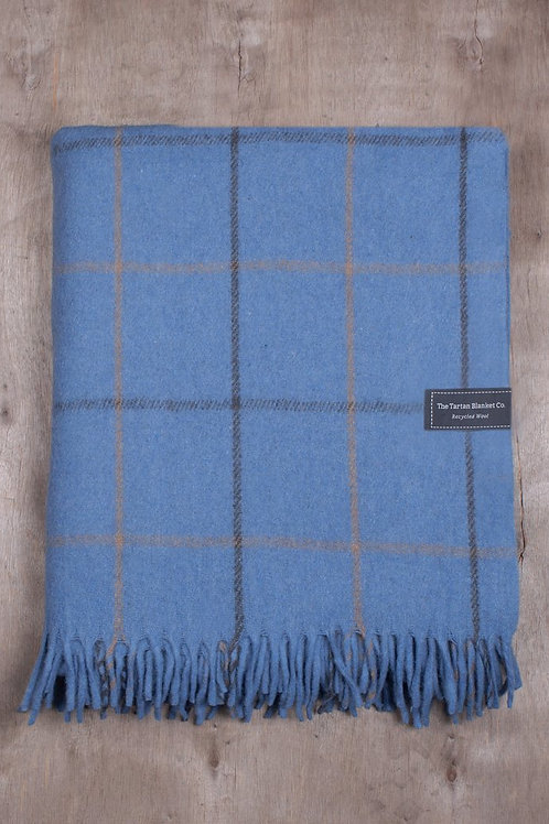 Sky Blue Check Blanket