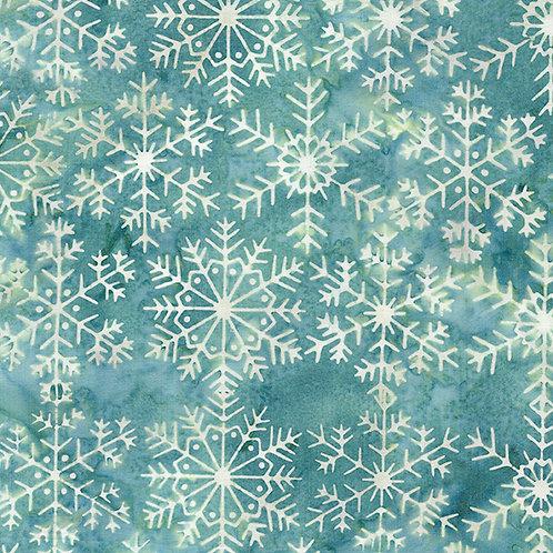 Batik - Snow Flake - Lt Bermuda