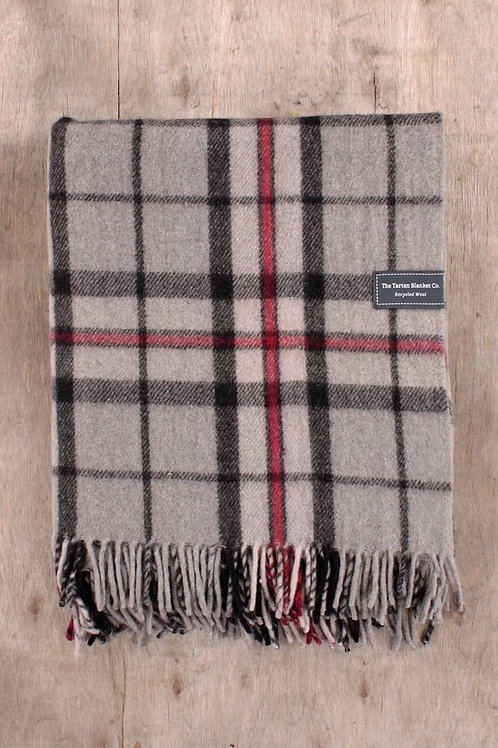 Thomson Grey Tartan Blanket