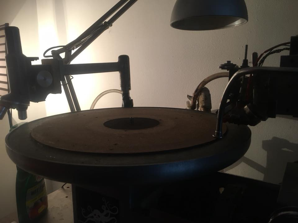 Scully Vinyl Lathe ready for half speed 78rpm custom record cutting