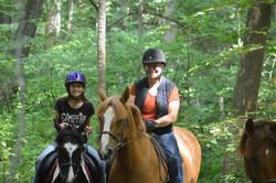 Trail rides at Top Bar Ranch