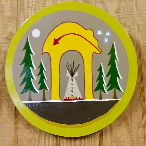 Hand-painted and Designed Original Shield