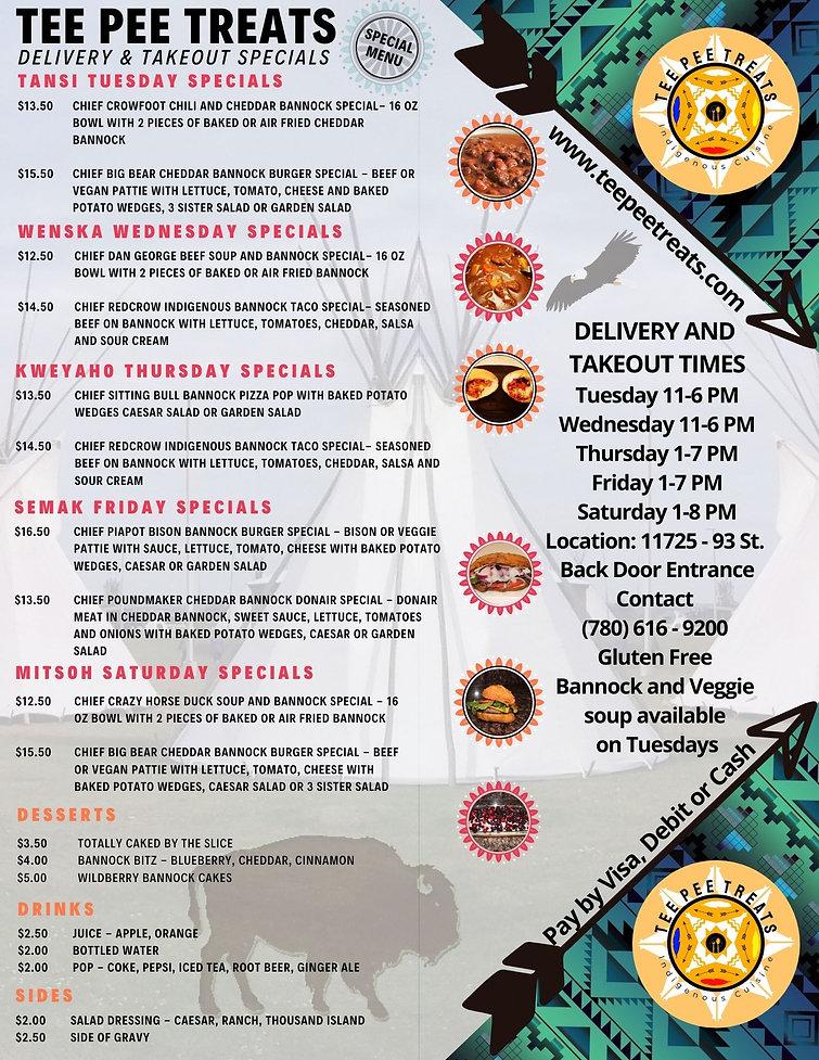 Tee Pee Treats New Daily Specials Menu.j
