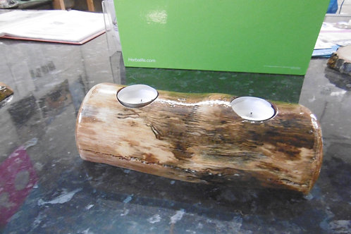 Gloss Log T-light holder