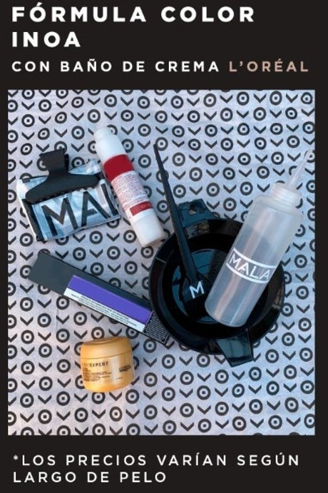 Set Formula color Inoa con baño de crema Loreal