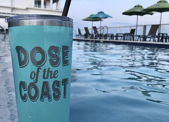 Corkcicle 24 oz Tumbler with Dose of the Coast engraving (Turquoise)