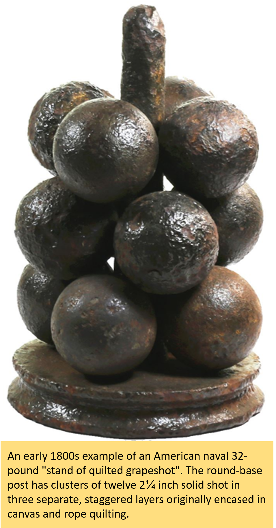 An example of iron grapeshot.