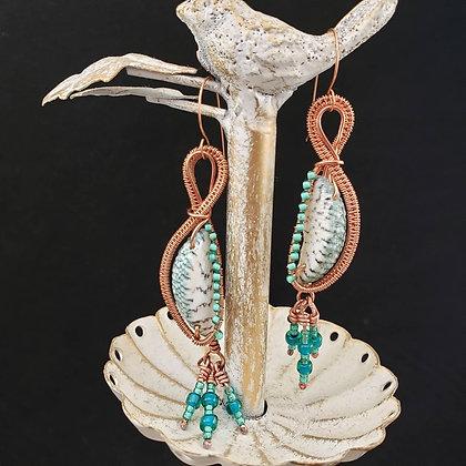 Splendid Seashell Dangle Earrings