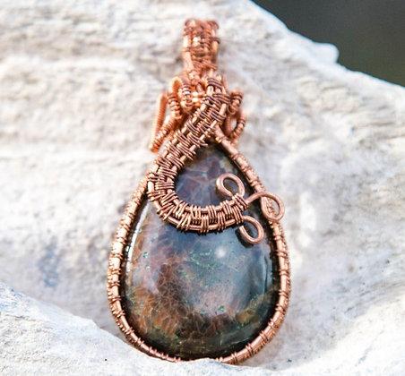 Beautiful Ocean Jasper Pendant