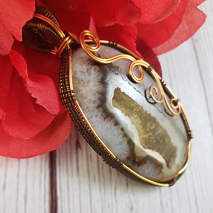 Brilliant Brown Onyx Druzy Oval
