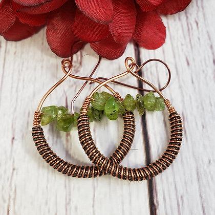 Stunning Peridot Chip Earrings