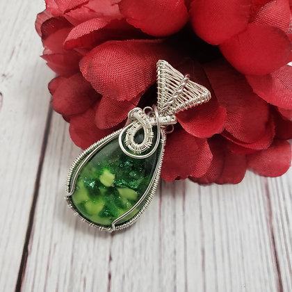 Extraordinary Lime & Green Aventurine Glass Pear
