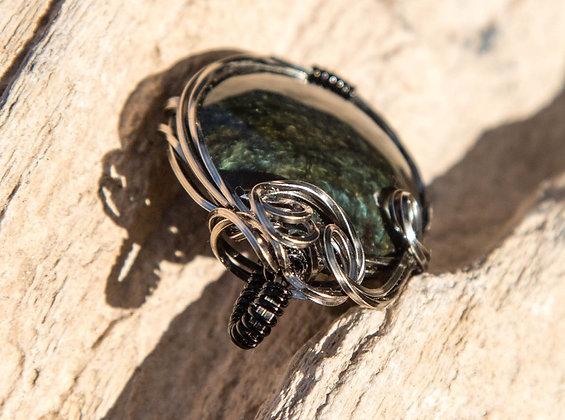 Beautiful Premium Velvet Obsidian Pendant