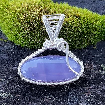 Gemmy Holley Blue Oval Pendant