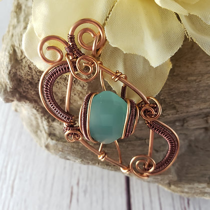 Captivating Copper Chrysoprase Pendant