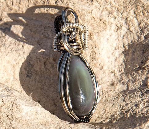 Striking Premium Electric Blue Obsidian Pendants