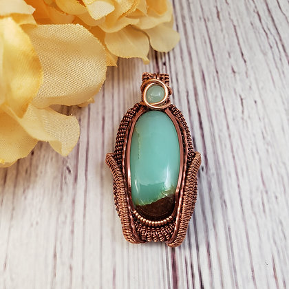 Stunning Dual Chrysoprase Oval Pendant