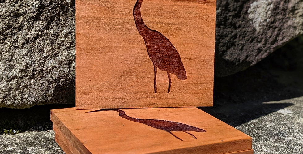 Blue Heron coasters (4)