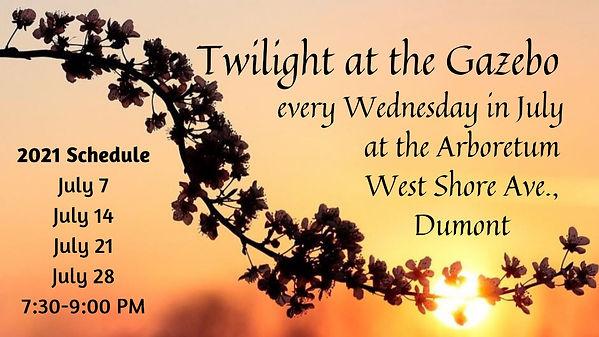 Twilight Concerts Gazebo sponsored Dumont Shade Tree Commission