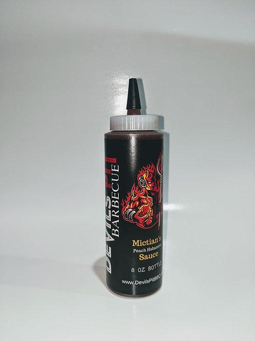 Mictian's Peach Habanero BBQ Sauce