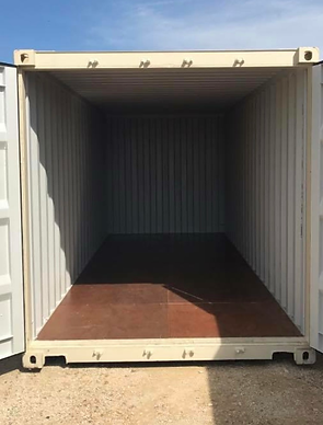 new 20' container interior, new one trip inside, new container, one trip container
