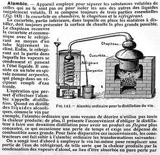 Alambic Cognac distilation