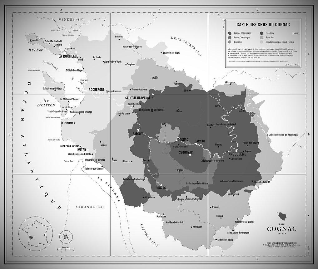 Carte des crus du Cognac_BNIC