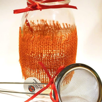 Brewing Jar and Strainer